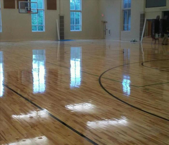 Water Damaged Gym Floors After