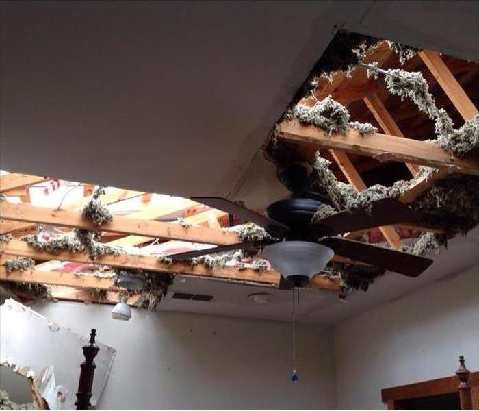 Storm Damage Collapsed Ceiling Damage